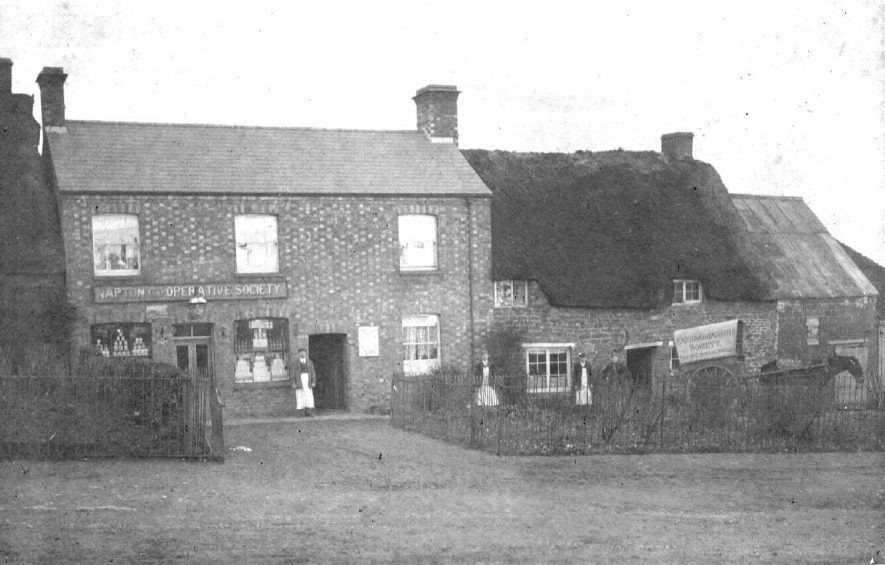 Co-operative Society shop with adjoining cottage.  1910s |  IMAGE LOCATION: (Warwickshire County Record Office)