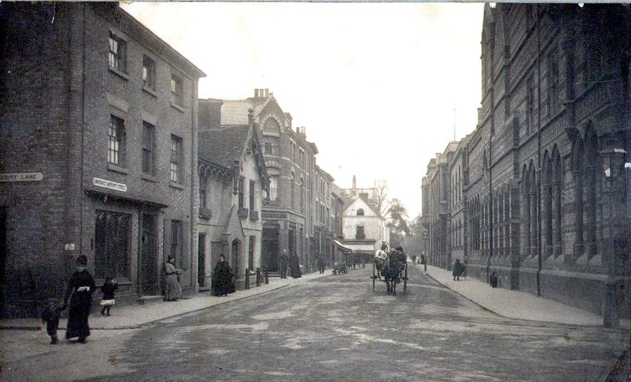View along Lawrence Street, Rugby.  1890 |  IMAGE LOCATION: (Rugby Library)