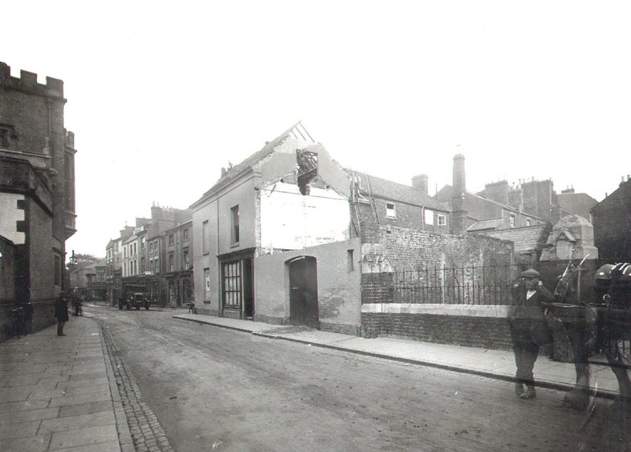 Demolition of buildings in Lawrence Sherriff Street, Rugby.  1929 |  IMAGE LOCATION: (Rugby Library)