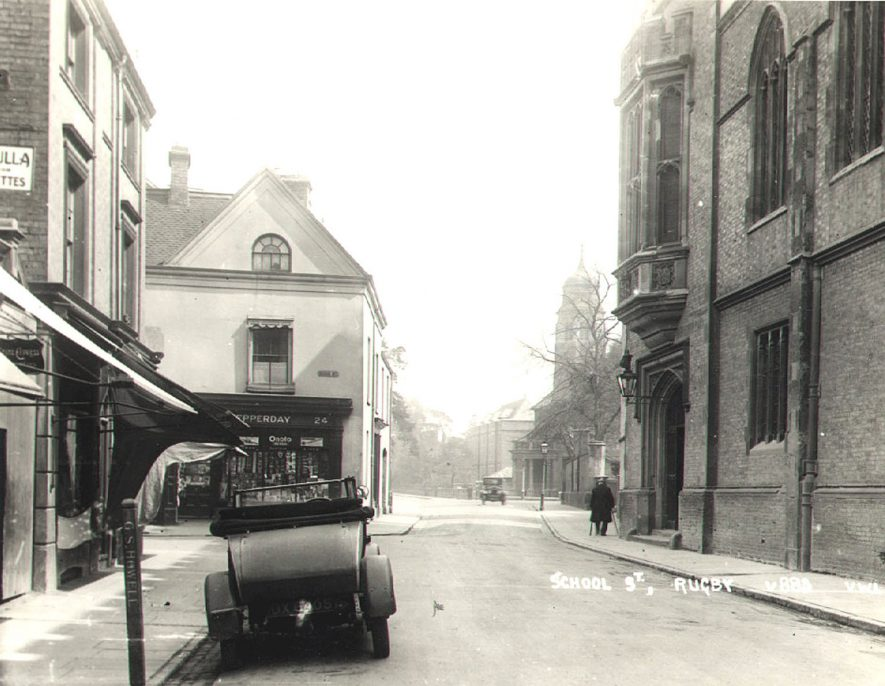 Lawrence Sheriff Street's junction with High Street, Rugby.  1927 |  IMAGE LOCATION: (Rugby Library)