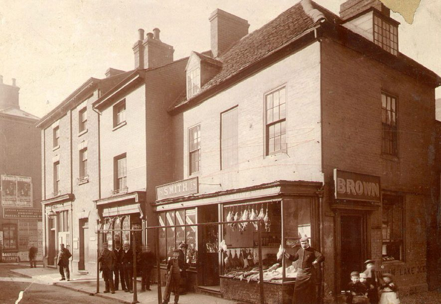Market Place, Rugby.  1880s    IMAGE LOCATION: (Rugby Library)