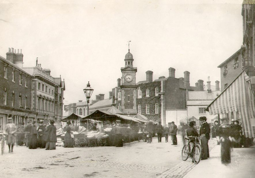 Rugby Market Place.  1896 |  IMAGE LOCATION: (Rugby Library)