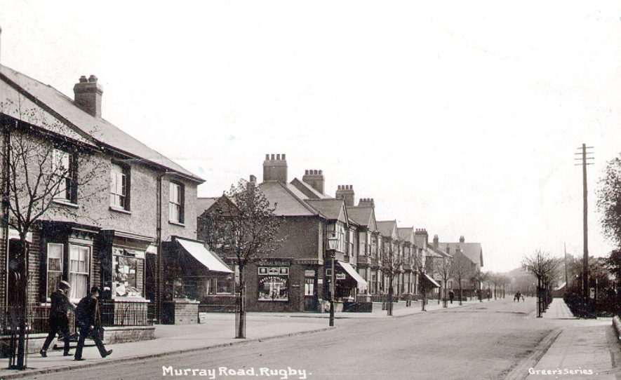 View along Murray Road, Rugby.  1915 |  IMAGE LOCATION: (Rugby Library)