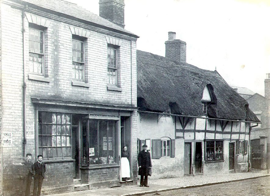 A shop and some cottages, North Street, Rugby.  1880 |  IMAGE LOCATION: (Rugby Library)