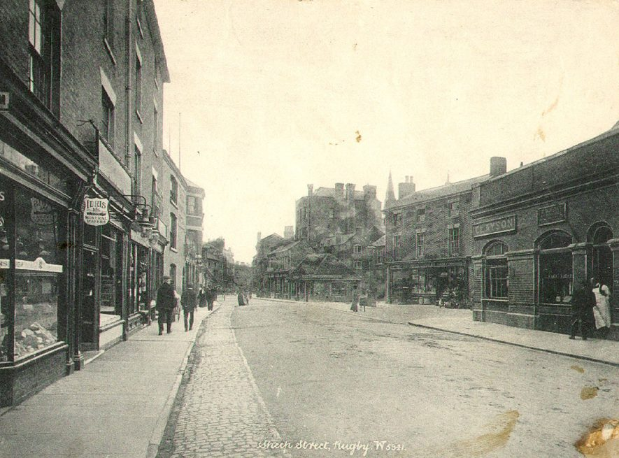 Sheep Street, Rugby.  Photographed between 1898 and 1903. |  IMAGE LOCATION: (Rugby Library) IMAGE DATE: (c.1900)