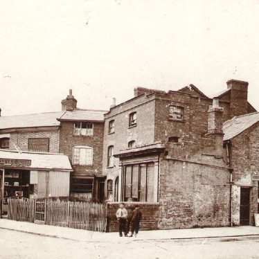 Rugby.  Warwick Street junction with Dunchurch Road