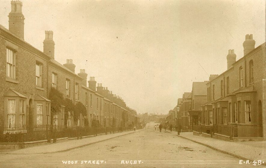 View along Wood Street, Rugby.  1910 |  IMAGE LOCATION: (Rugby Library)