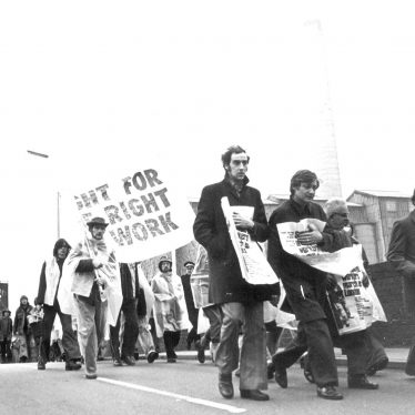Rugby.  'Right to Work March'