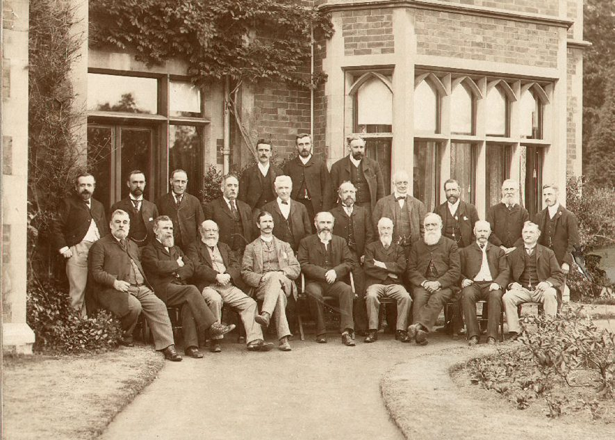 Rugby Urban District Council and officials. From left to right. Back row: J Satchell (Water Inspector), H Maddocks (Foreman), W H W Parsons (Nuisance Inspector). Middle row: J F Symes (Rate Collector), D G Macdonald (Surveyor), W G Loveday, R Walker, T M Wratislaw (Clerk), J Butcher, P Simpson, A L Mumford, R Over, T Hunter. Front row: T Walton, T Hands, D Buchanan, G M Seabroke, Reverend C Elsee(Chairman), J G Satchell, T Oldham, G Loverock, J Stannard. 1894 Revd C.Elsee (Chairmen) |  IMAGE LOCATION: (Rugby Library) PEOPLE IN PHOTO: Wratislaw, T M, Wratislaw as a surname, Walton, G W, Walton as a surname, Walker, R, Walker as a surname, Symes, J F, Symes as a surname, Stannard, J, Stannard as a surname, Simpson, P, Simpson as a surname, Seabroke, G M, Seabroke as a surname, Satchell, J G, Satchell, J, Satchell as a surname, Parsons, W H W, Parsons as a surname, Over, R, Over as a surname, Oldham as a surname, Nurse as a surname, Mumford as a surname, Mumford, A L, Maddocks, H, Maddocks as a surname, Macdonald, D G, Macdonald as a surname, Loverock, G, Loverock as a surname, Loveday, W G, Loveday as a surname, Hunter, T, Hunter as a surname, Hands, T, Hands as a surname, Elsee, Revd C, Elsee as a surname, Butcher, J, Butcher as a surname, Buchanan, D
