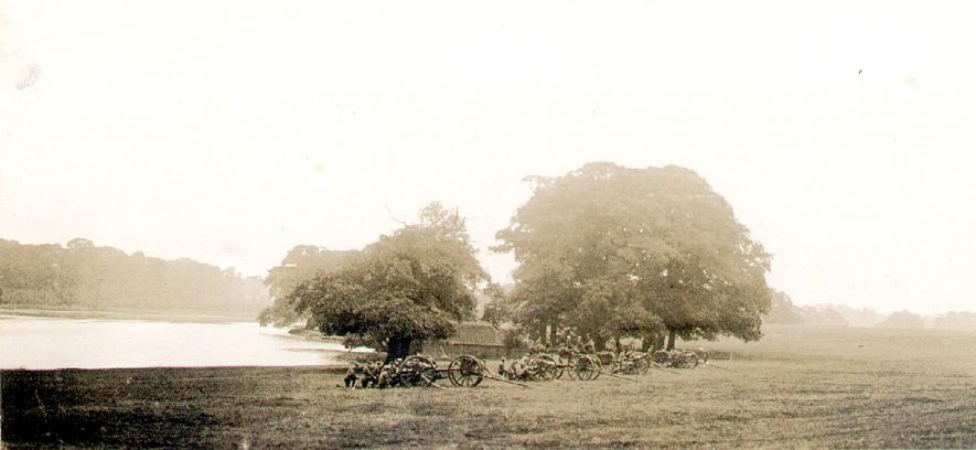 4th South Midland (Howitzer)  Battery at Coombe Abbey.  1913 |  IMAGE LOCATION: (Rugby Library)
