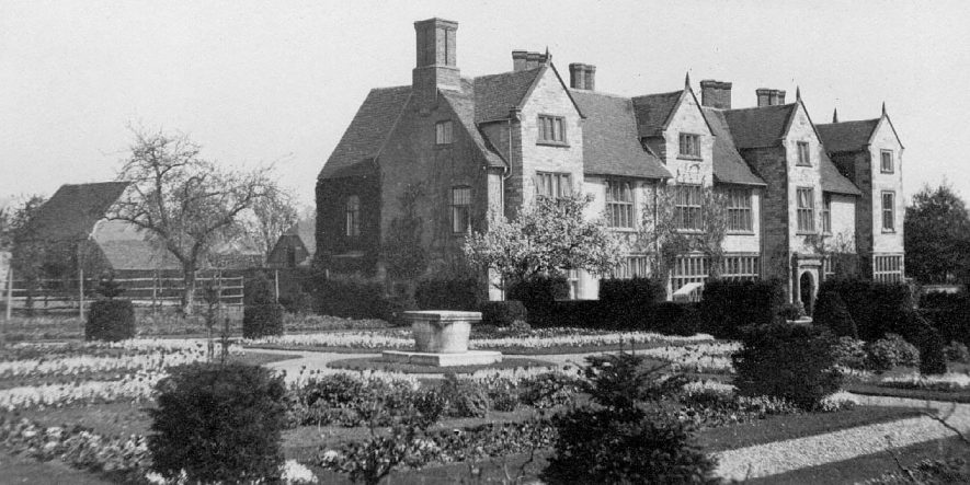 Billesley Manor, large country house and gardens.  1919 |  IMAGE LOCATION: (Warwickshire County Record Office)