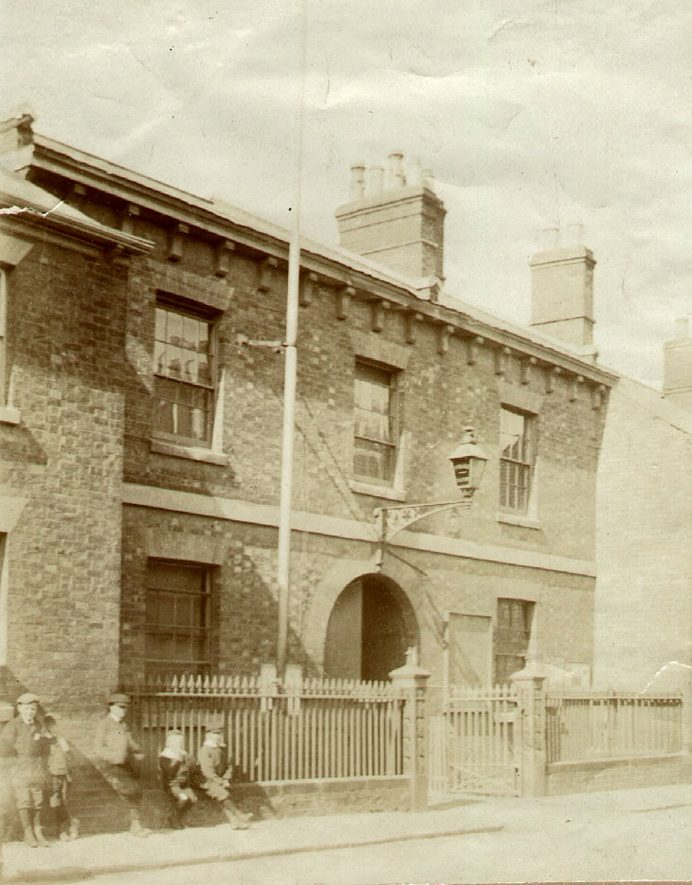 The old Police Station, Rugby, which was converted to dwellings in 1906.  1900s |  IMAGE LOCATION: (Rugby Library)