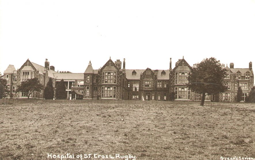 View of St Cross Hospital, Rugby.  1920s    IMAGE LOCATION: (Rugby Library)