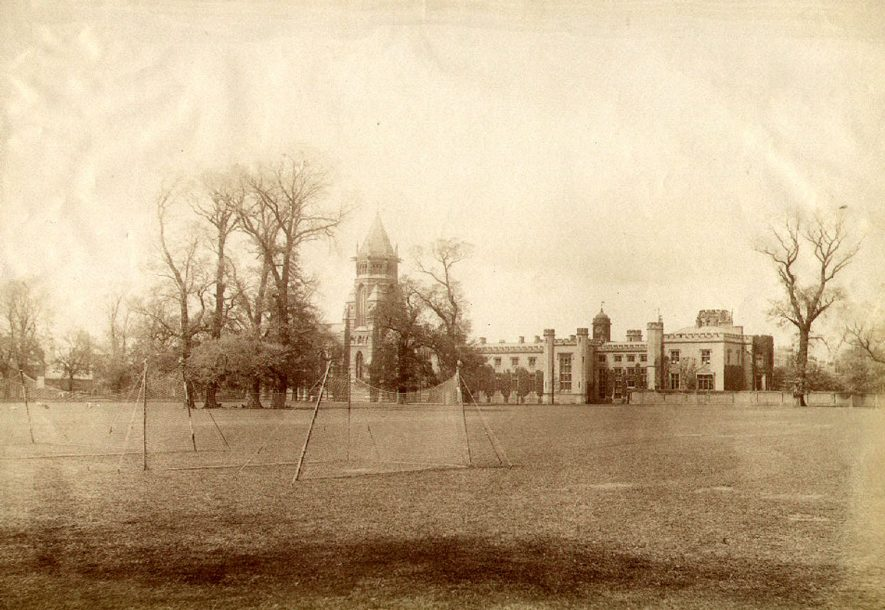 Rugby School buildings seen from school close.  1880s |  IMAGE LOCATION: (Rugby Library)