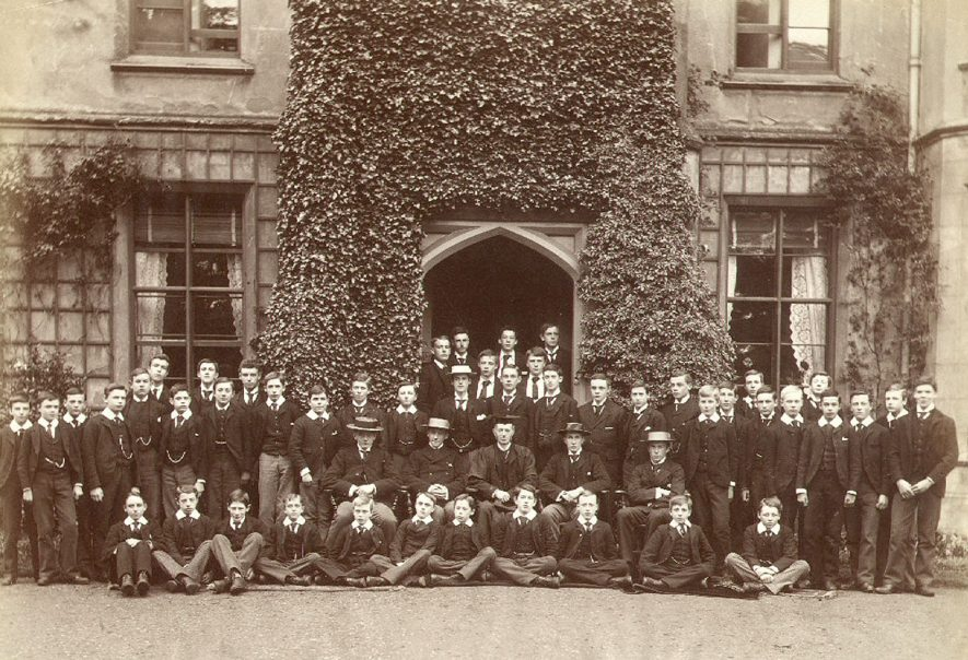 Group of boys of Bradley House, Rugby School in the early 1900s when A.E. Donkin was Housemaster. A list of housemasters can be seen in the Rugby School register 1911 - 1946 p. xxvii. |  IMAGE LOCATION: (Rugby Library) PEOPLE IN PHOTO: Donkin, A E, Donkin as a surname