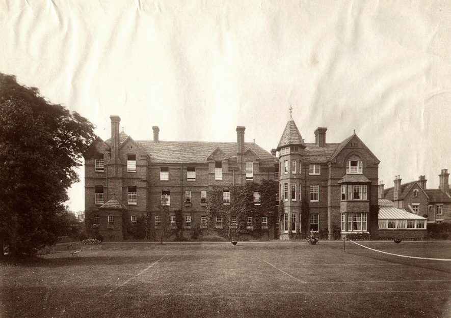 Michell House, Rugby School. This boarding house in Hillmorton Road was built by Mr. Michell to replace the one in Lawrence Sheriff Street which was demolished in 1884.  1890s |  IMAGE LOCATION: (Rugby Library)