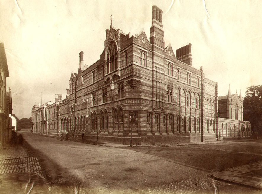 Rugby School, New Quad buildings.  1890s |  IMAGE LOCATION: (Rugby Library)