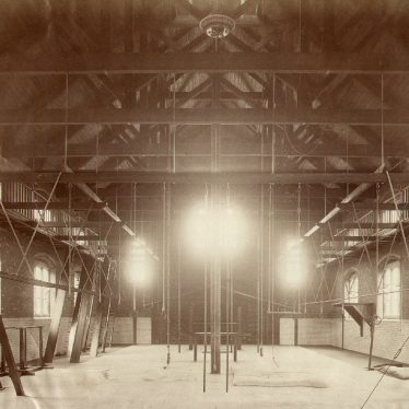 Rugby School.  Gymnasium interior