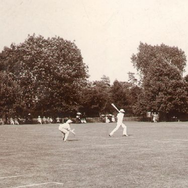 Rugby School.  Cricket on the Close