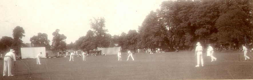 Cricket on the Close at Rugby School.  1903 |  IMAGE LOCATION: (Rugby Library)