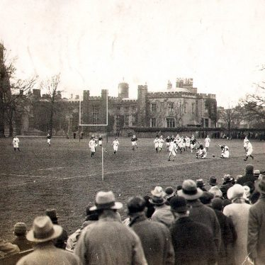 Rugby School.  Rugby match