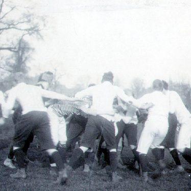 Rugby School.  Football match