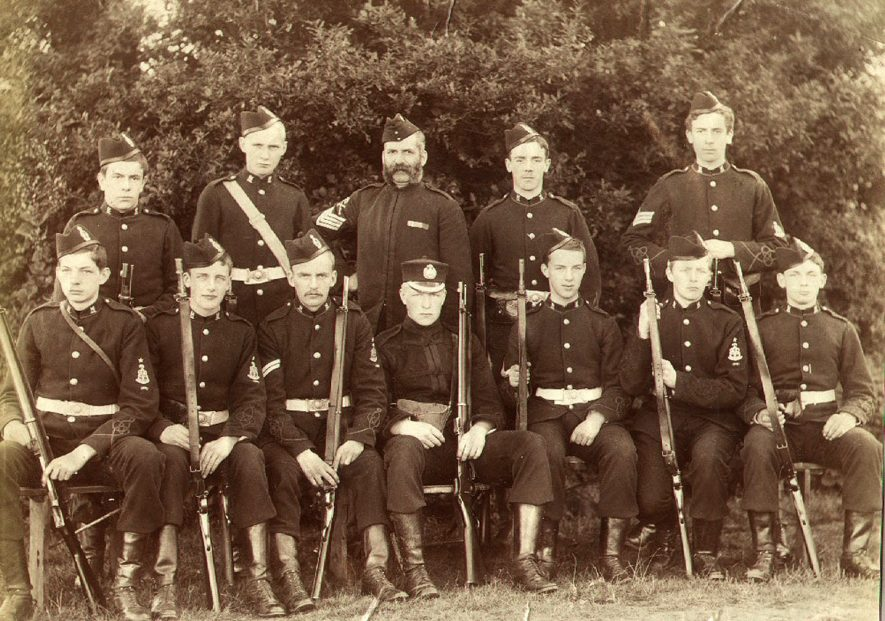 Rugby School Rifle Corps.  1894 |  IMAGE LOCATION: (Rugby Library)