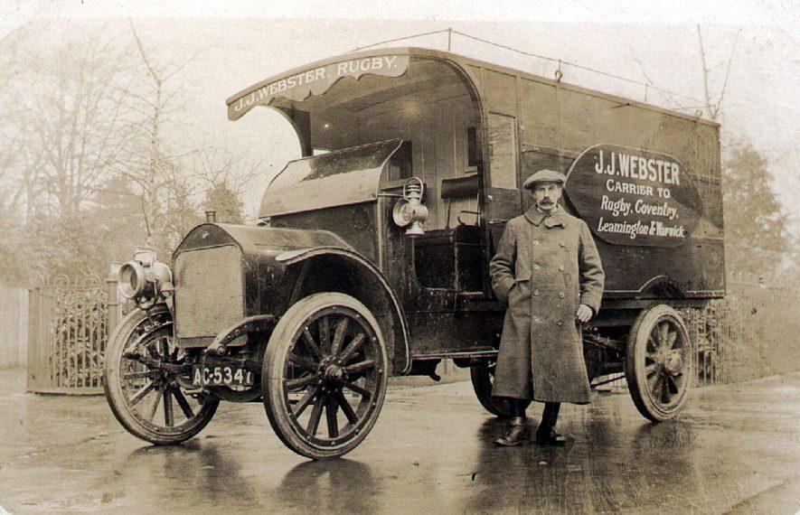 J. J. Webster, carrier, Rugby.  1920s |  IMAGE LOCATION: (Rugby Library) PEOPLE IN PHOTO: Webster, J J, Webster as a surname