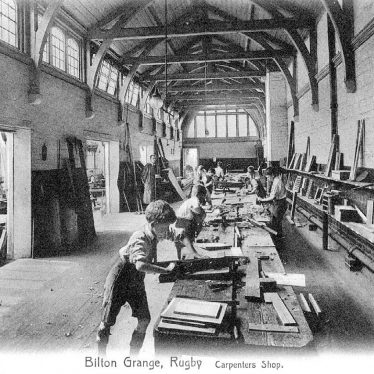 Bilton Grange.  School carpenters shop