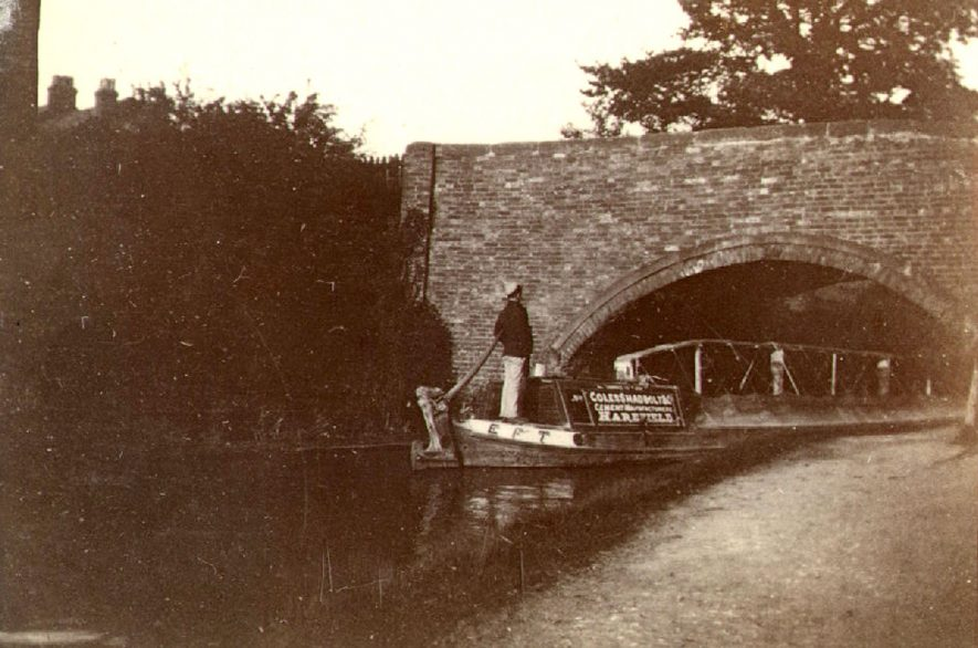 Clifton Road bridge over the Oxford Canal, Rugby.  1900 |  IMAGE LOCATION: (Rugby Library)