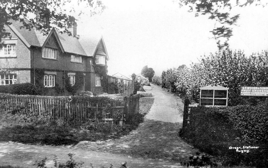 C.T. Woods & Sons, market gardeners. Entrance and buildings.  1910s |  IMAGE LOCATION: (Warwickshire County Record Office)