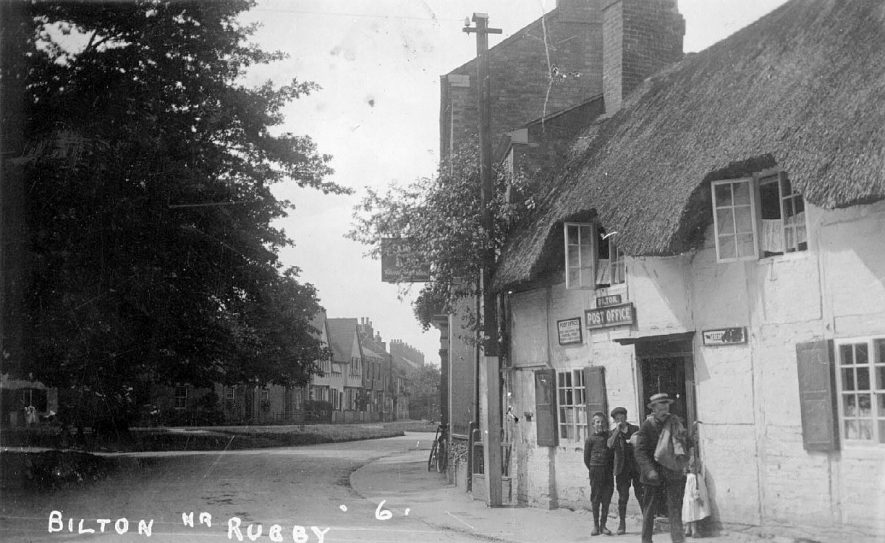 Street scene in Bilton showing post office and the George Inn.  1910s |  IMAGE LOCATION: (Warwickshire County Record Office)