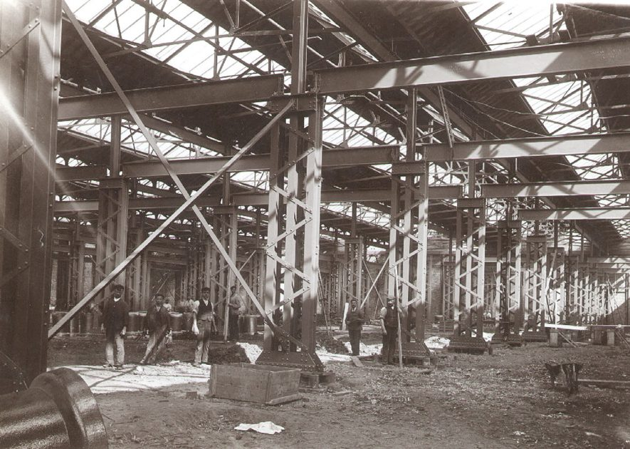 Southeast corner of B.T.H. machine shop, Rugby.  1901 |  IMAGE LOCATION: (Rugby Library)