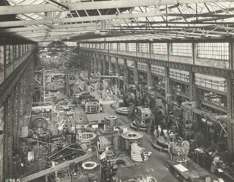 B.T.H. Turbine Factory, Rugby.  1935