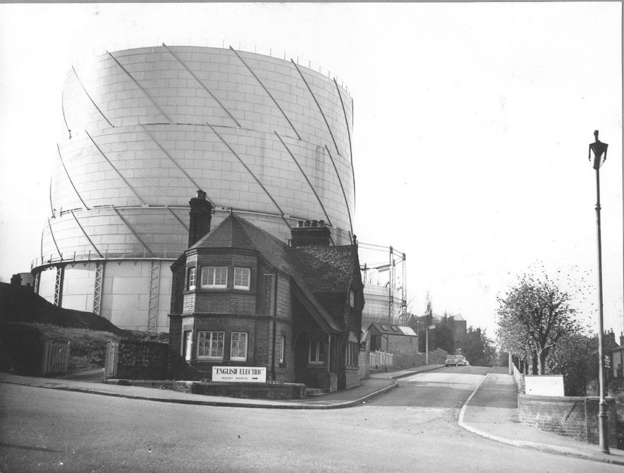 Entrance to English Electric Works in Newbold Road, Rugby.  1959  By permission ALSTOM Power |  IMAGE LOCATION: (Rugby Library)
