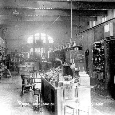 Hillmorton.  Rugby Radio Station, valve transmitting room