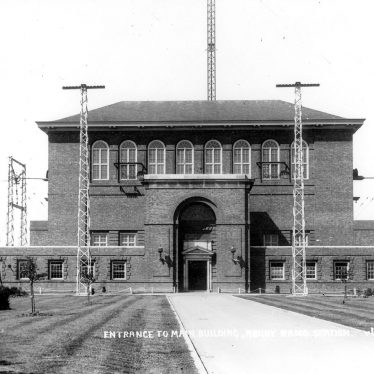Hillmorton.  Rugby Radio Station, entrance