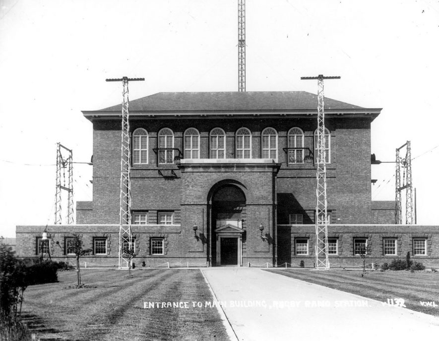 Entrance to Rugby Radio Station.  1926 |  IMAGE LOCATION: (Rugby Library)