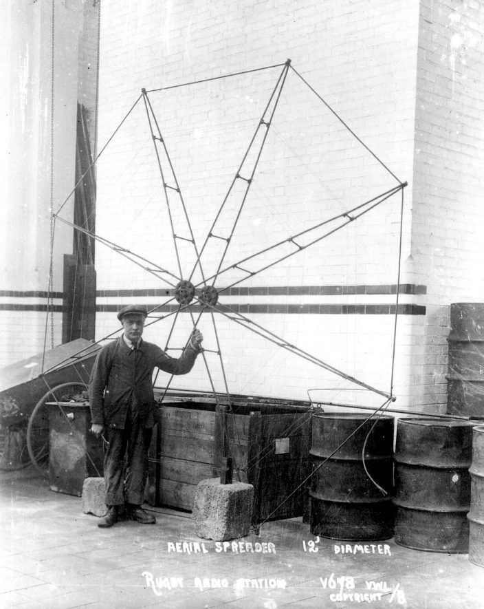 Aerial spreader at Rugby radio station.  1926 |  IMAGE LOCATION: (Rugby Library)