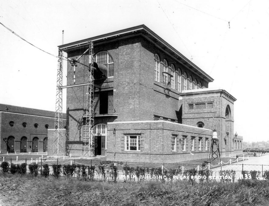 The main building of Rugby radio station.  1926 |  IMAGE LOCATION: (Rugby Library)
