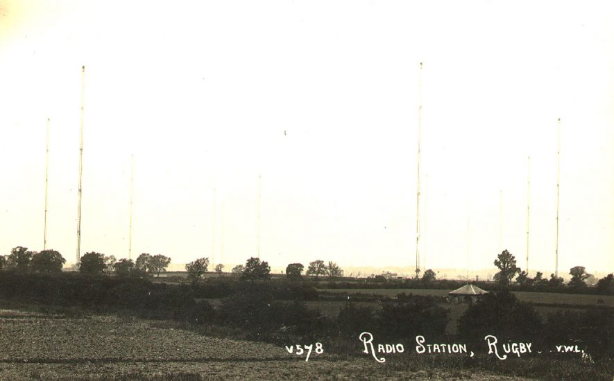 Masts at Rugby radio station, Rugby.  1930 |  IMAGE LOCATION: (Rugby Library)
