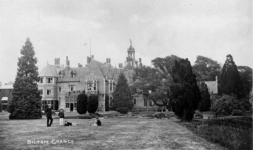 Bilton Grange showing part of gardens.  1900s |  IMAGE LOCATION: (Warwickshire County Record Office)