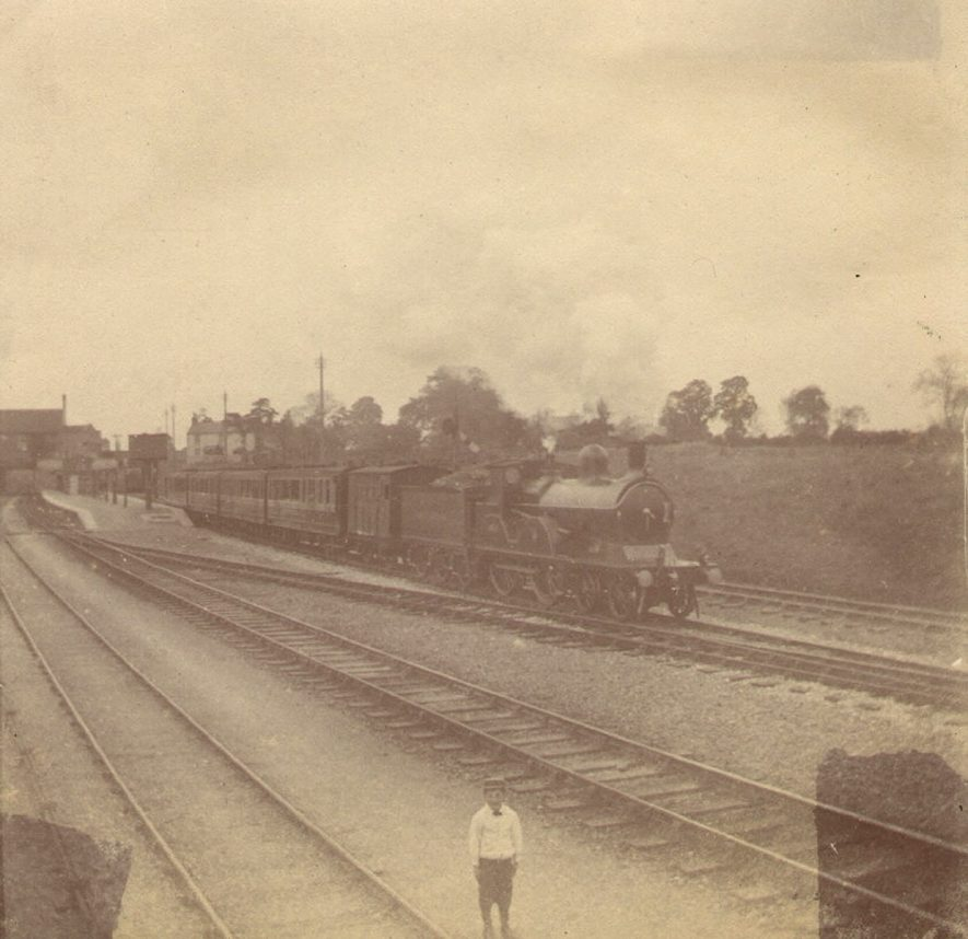 One of the first trains leaving Rugby Central station, which was opened in 1899. |  IMAGE LOCATION: (Rugby Library)