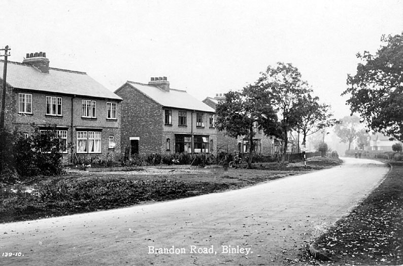 Semi-detached houses in Brandon Road, Binley.  1920s |  IMAGE LOCATION: (Warwickshire County Record Office)