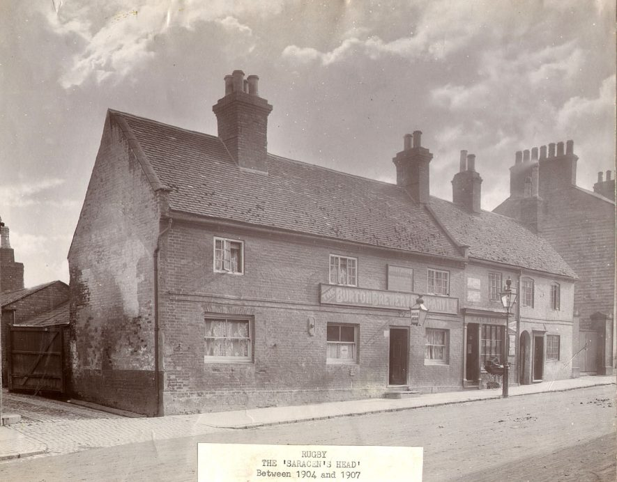 The Saracen's Head, North Street, Rugby. Photographed between 1904 and 1907 when Jesse Jones was the licensee.  1900s |  IMAGE LOCATION: (Rugby Library)