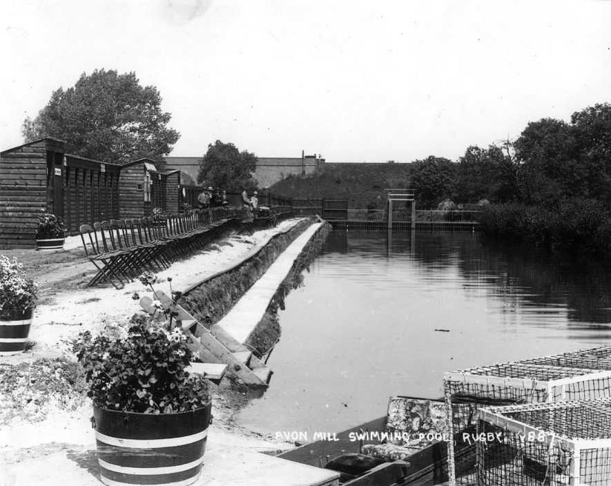 Avon Mill swimming pool, Rugby, which was officially opened on July 13th 1929.