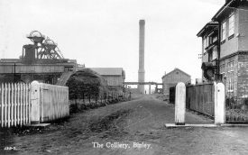 Entrance to Binley Colliery.  1920s |  IMAGE LOCATION: (Warwickshire County Record Office)