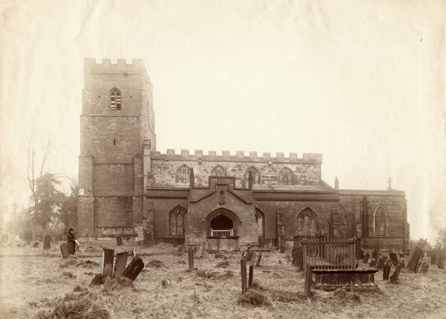 St Botolph's Church, Newbold on Avon.  1910s    IMAGE LOCATION: (Rugby Library)