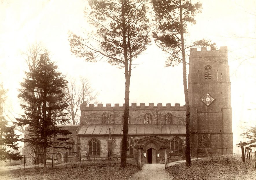 St Botolph's Church, Newbold on Avon.  1910s |  IMAGE LOCATION: (Rugby Library)
