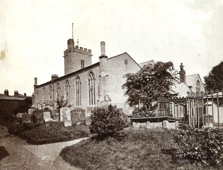 St Andrew's Church, Rugby.  1870s |  IMAGE LOCATION: (Rugby Library)